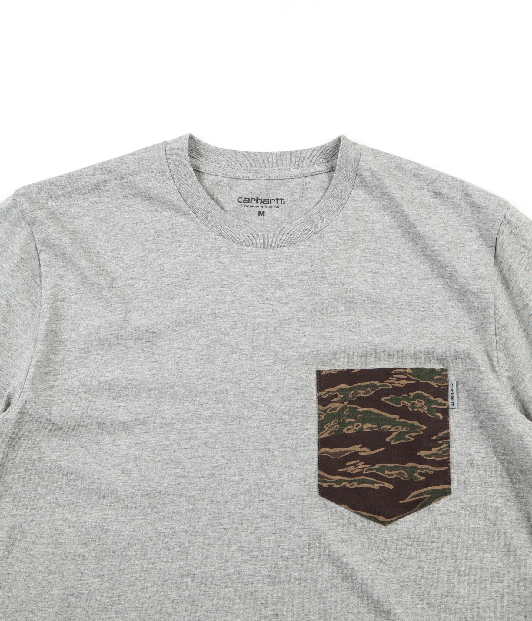 Carhartt Lester Pocket T-Shirt - Grey Heather / Camo Tiger