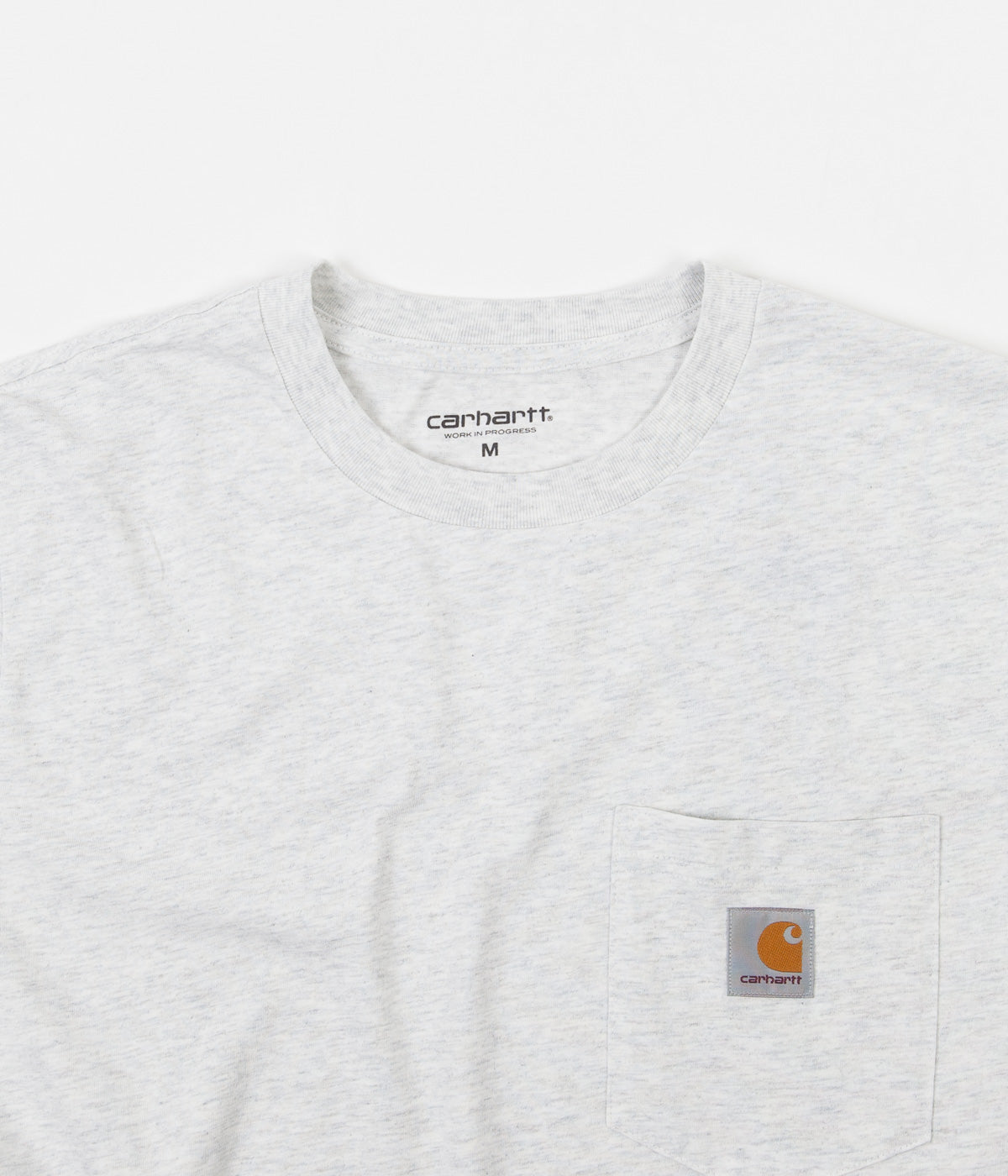 Carhartt Long Sleeve Pocket T-Shirt - Ash Heather