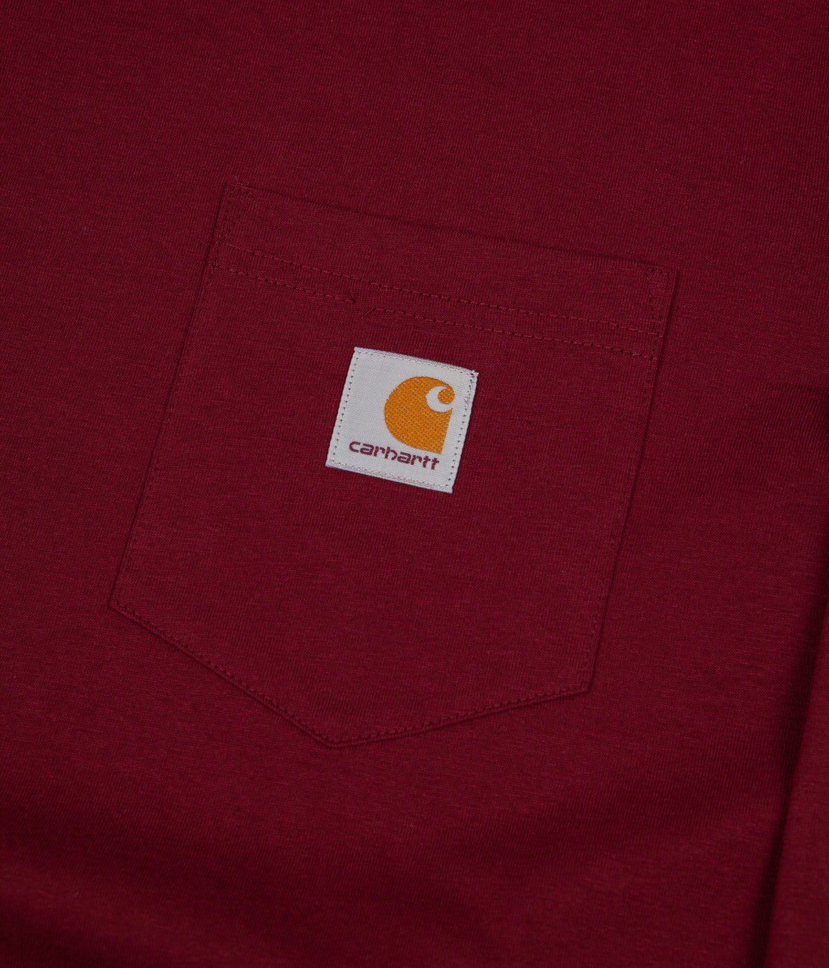 Carhartt Long Sleeve Pocket T-Shirt - Cranberry