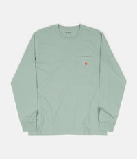 Carhartt Long Sleeve Pocket T-Shirt - Frosted Green