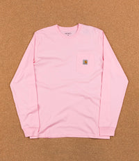 Carhartt Long Sleeve Pocket T-Shirt - Vegas Pink