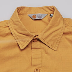 Carhartt Mission Long Sleeve Shirt Saffron Rinsed