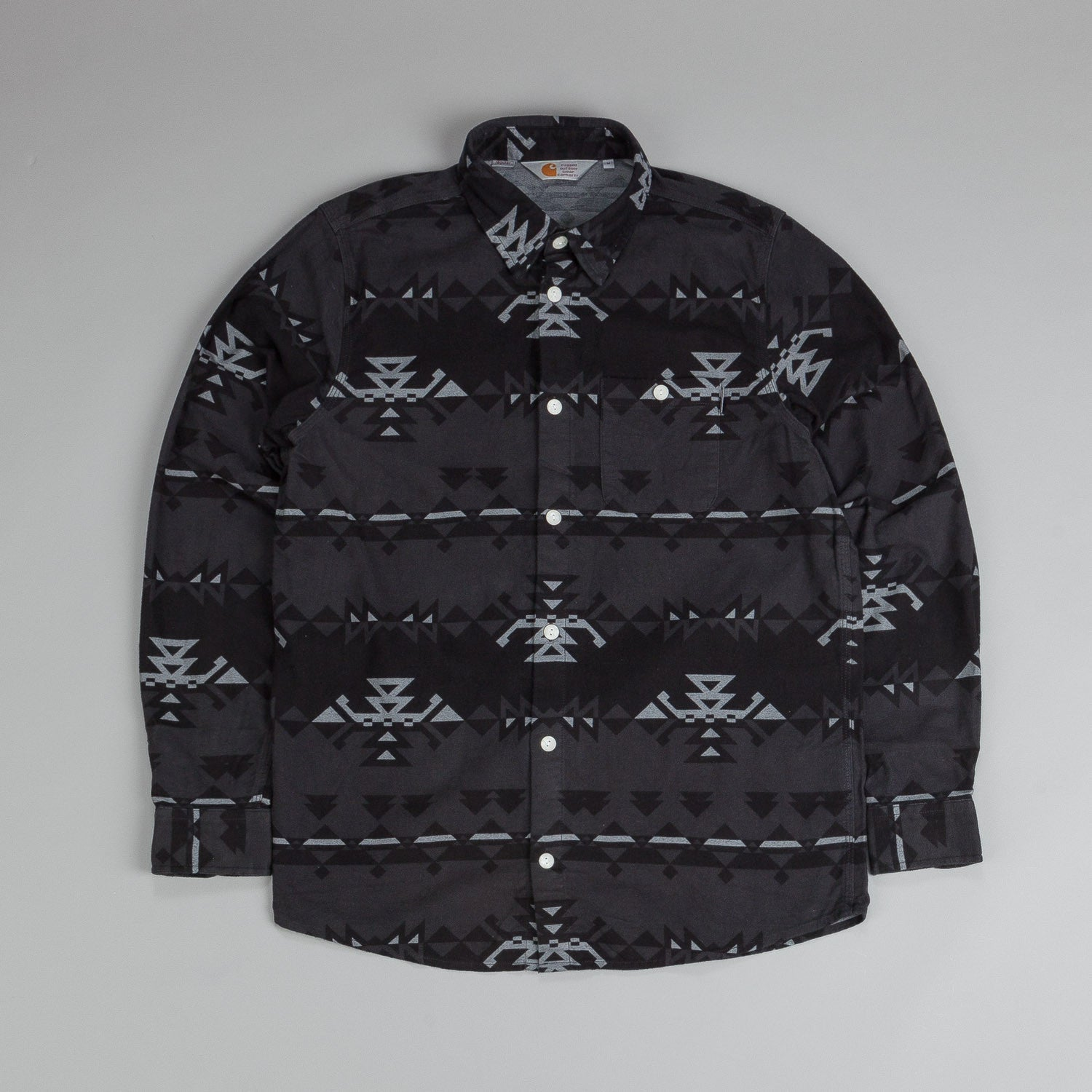 Carhartt L/S Wilkins Shirt Southwest Print Eclipse