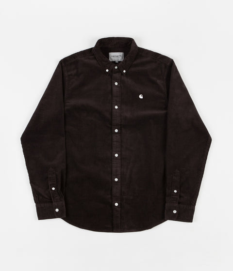 Carhartt Madison Cord Long Sleeve Shirt Navy//White in Size S,L
