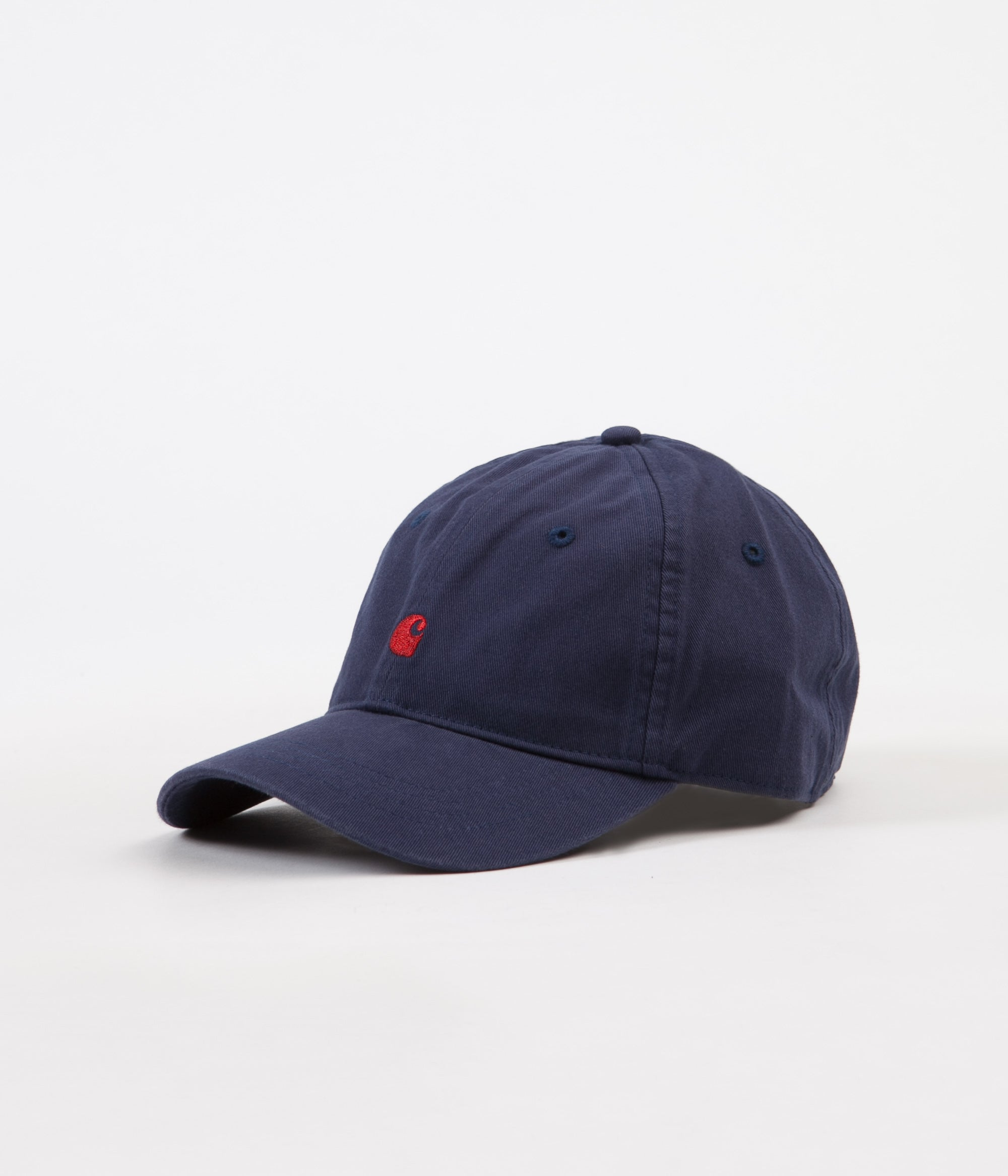 Carhartt Madison Logo Cap - Blue / Blast Red