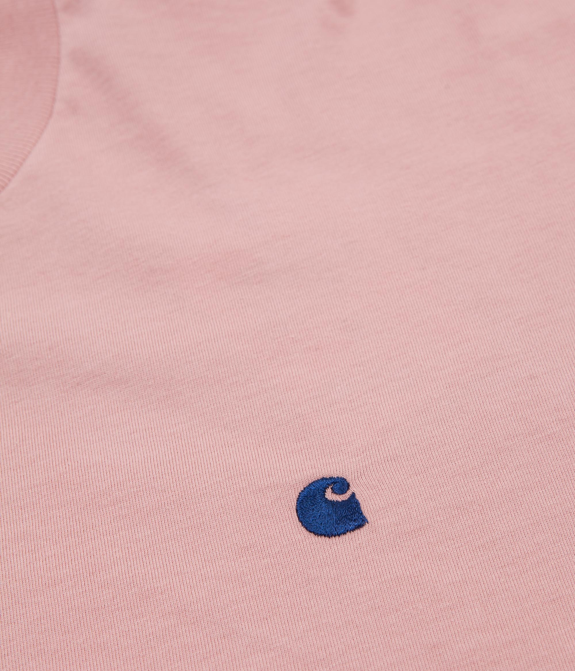 Carhartt Madison Long Sleeve T-Shirt - Soft Rose / Sapphire