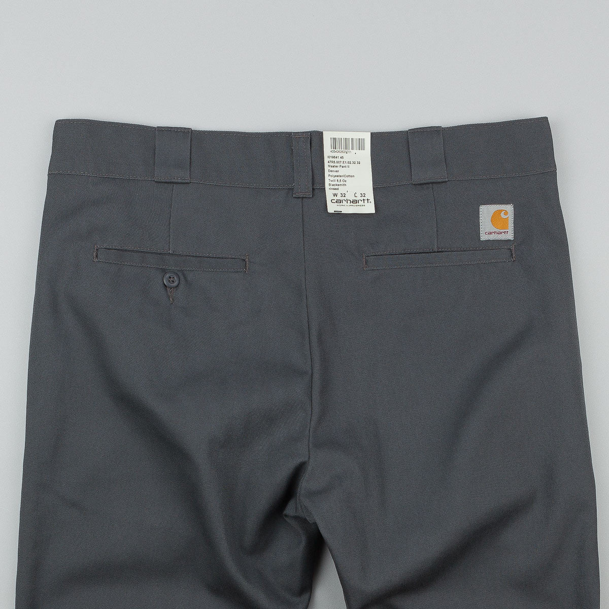 Carhartt Master Pant II Trousers- Blacksmith Grey (Rinsed)