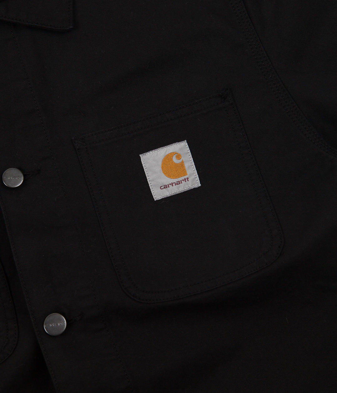 Carhartt Michigan Chore Coat - Black Aged Canvas