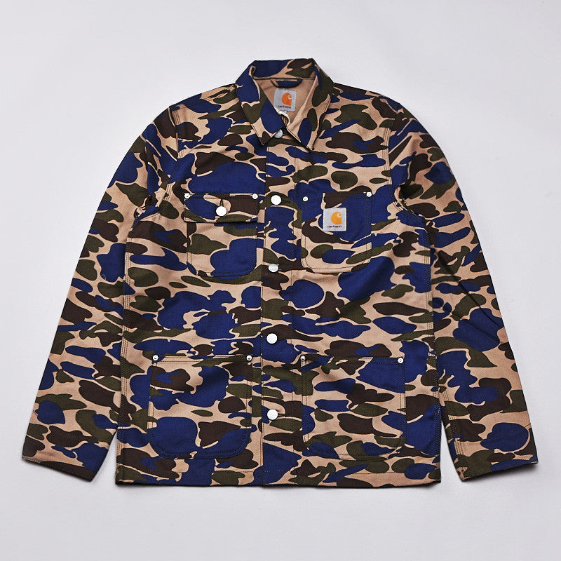 Carhartt Michigan Coat Carhartt Camo Isle / Metro Blue