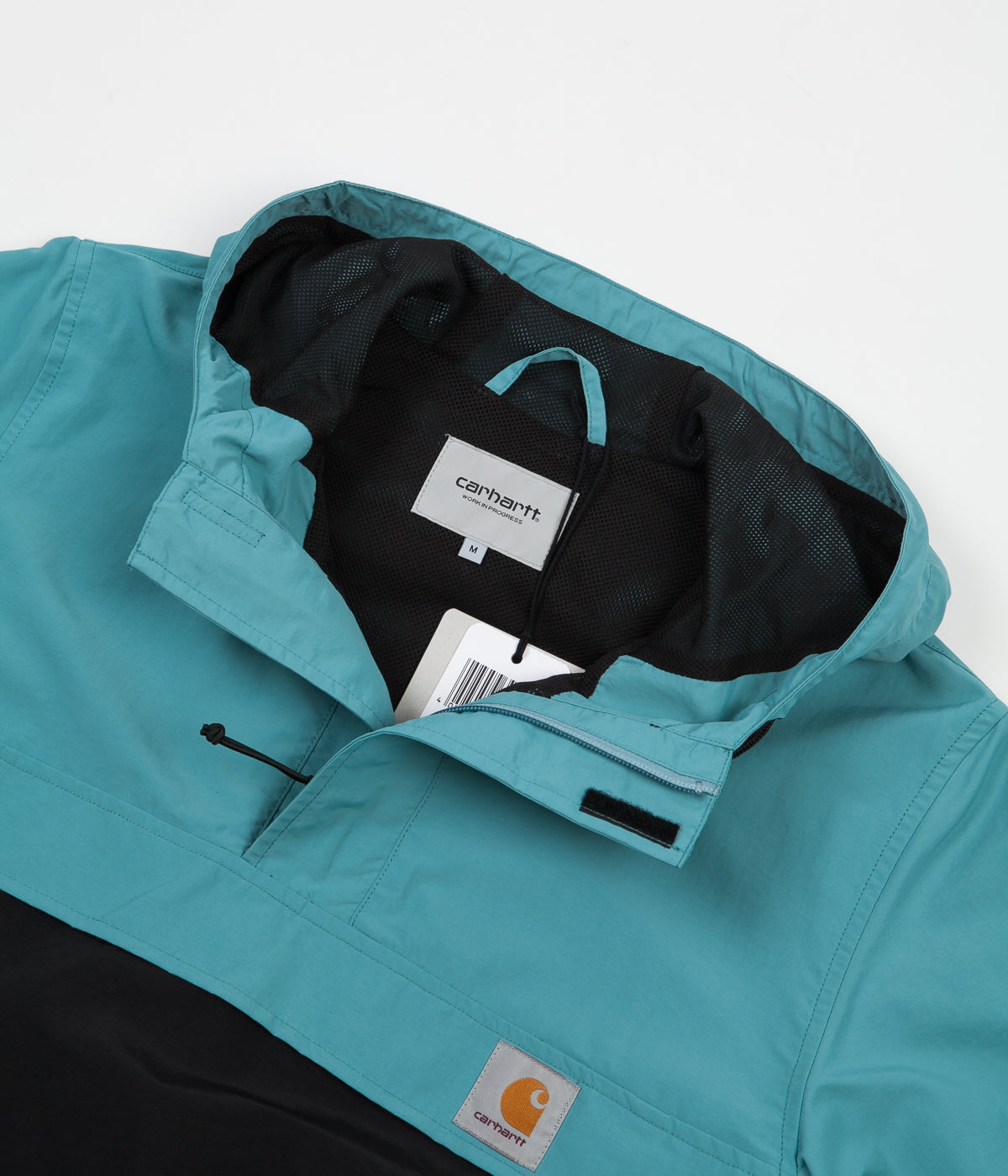 Carhartt Nimbus Two Tone Pullover Jacket - Soft Teal / Black