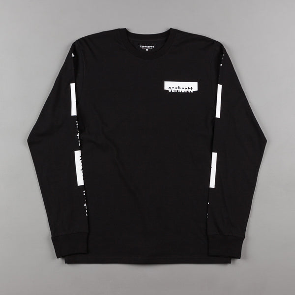 Carhartt Paperwork Long Sleeve T-Shirt - Black / White