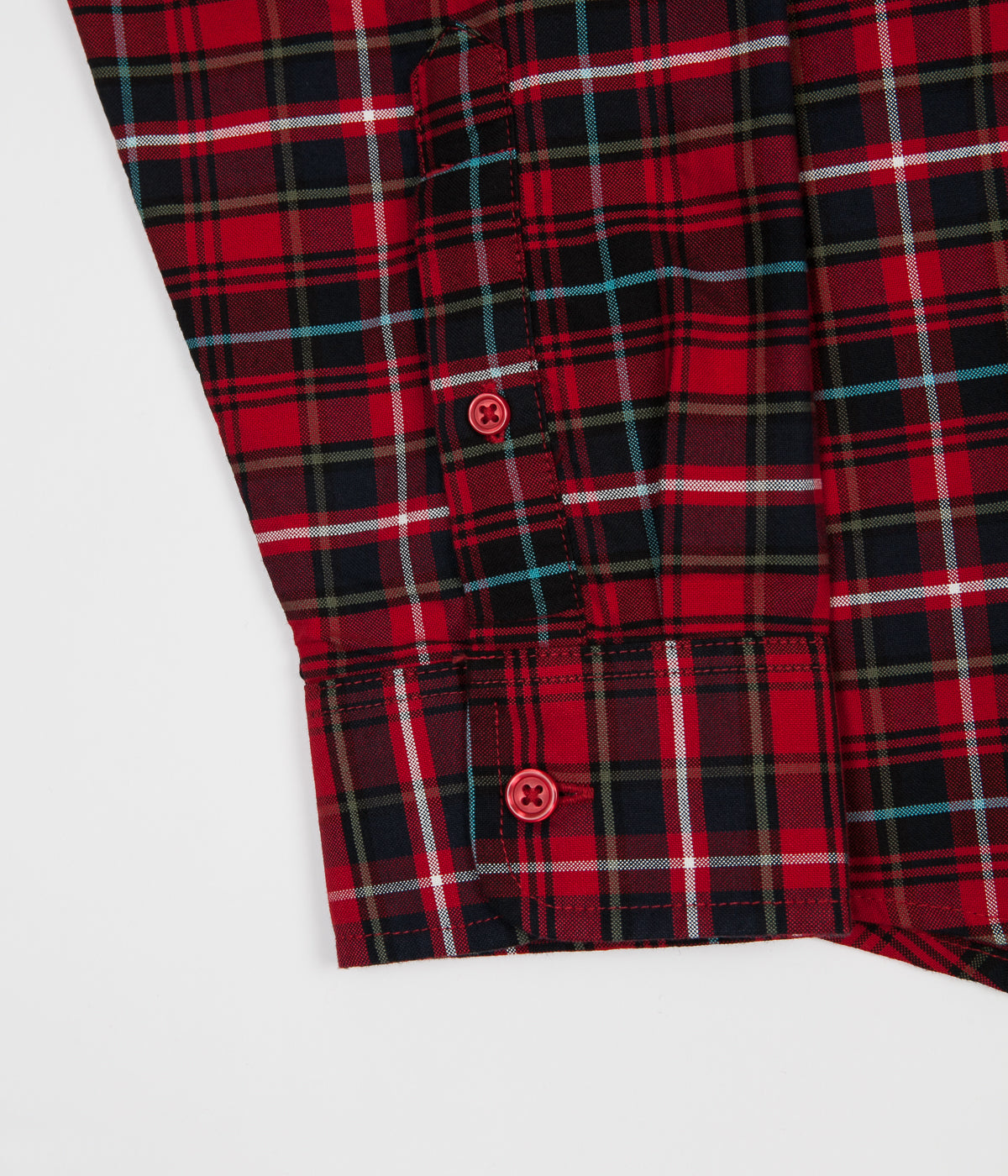 Carhartt Patton Check Shirt - Blast Red / Soft Teal