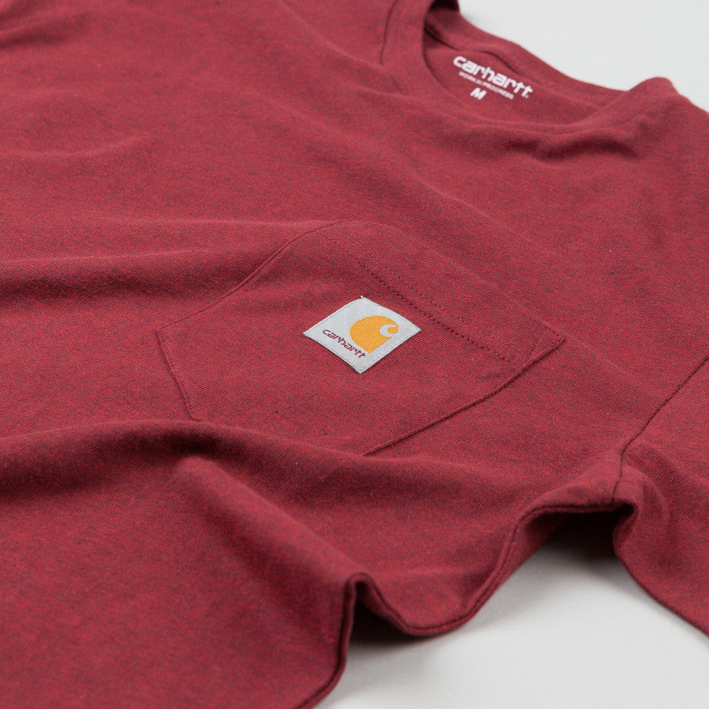 Carhartt Short Sleeve Pocket T Shirt Bordeaux Heather