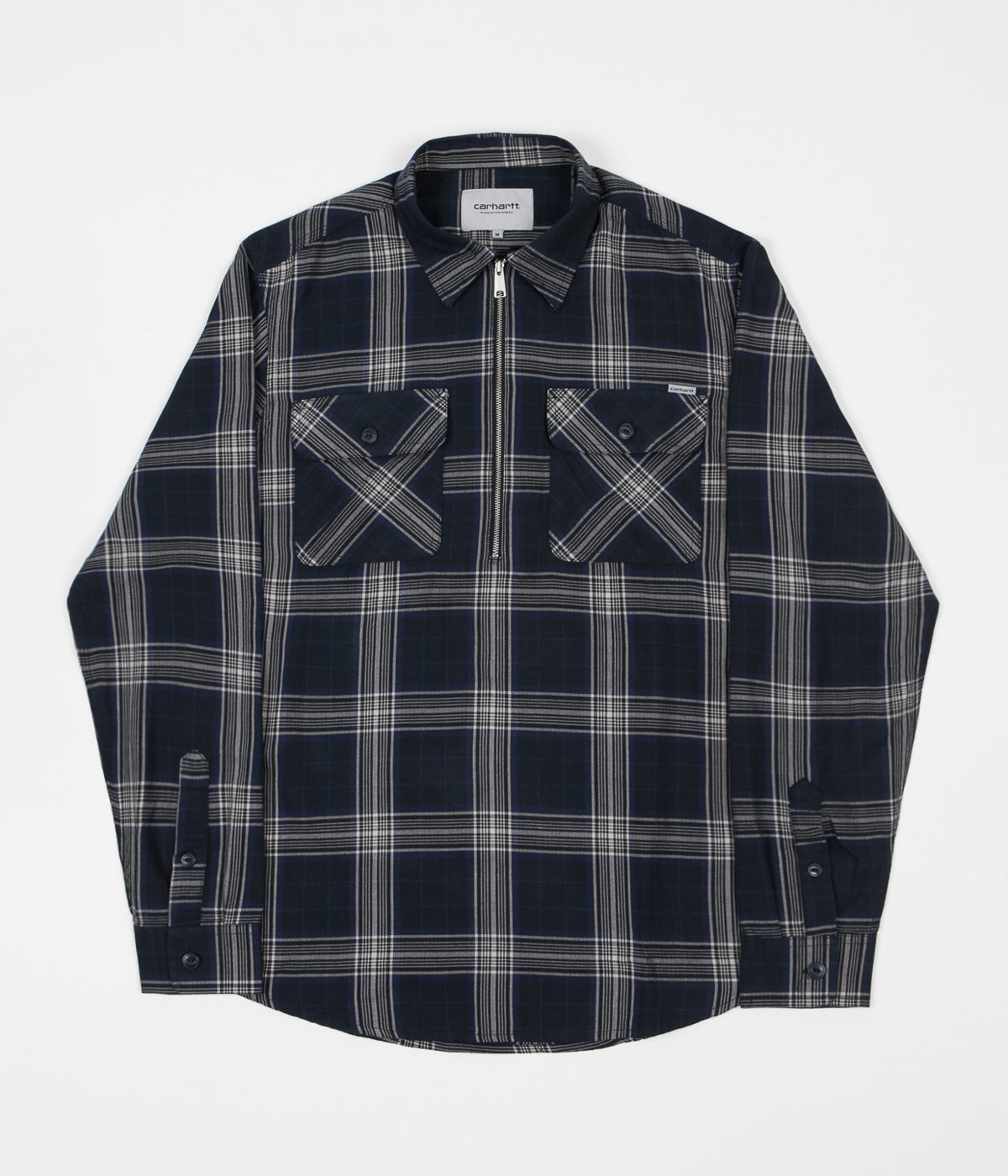 Carhartt Portland Long Sleeve Shirt - Portland Check / Navy