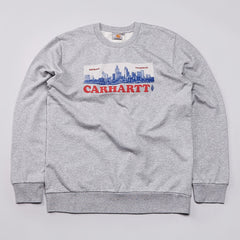 Carhartt Postcard Sweatshirt Grey Heather / Multi