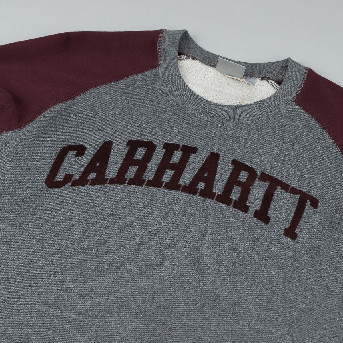 Carhartt Randall Crew Neck Sweatshirt - Dark Grey Heather / Damson