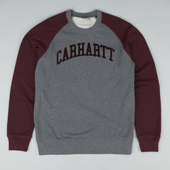 Carhartt Randall Crewneck Sweatshirt - Dark Grey Heather / Damson
