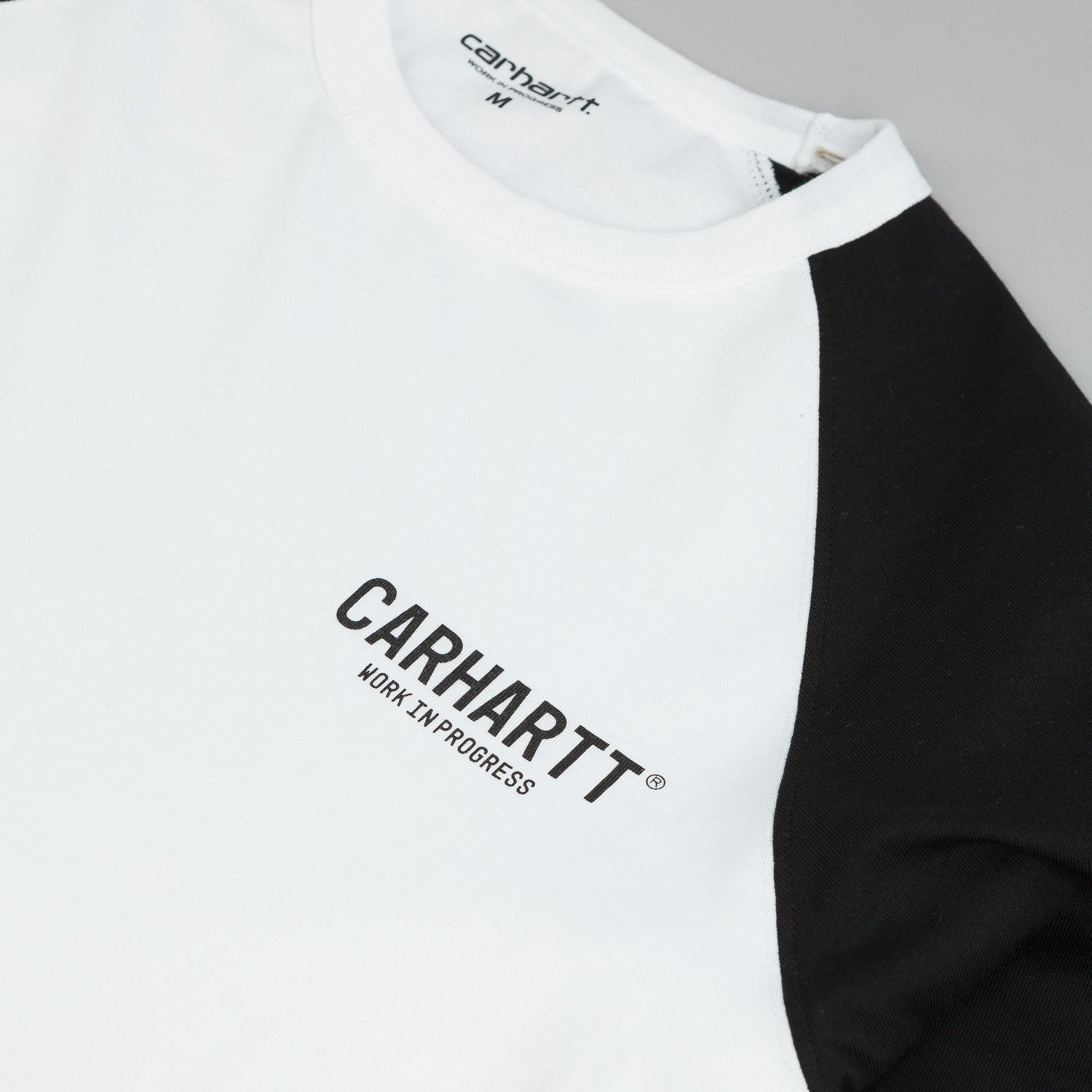Carhartt Riley Long Sleeve T-Shirt - White / Black