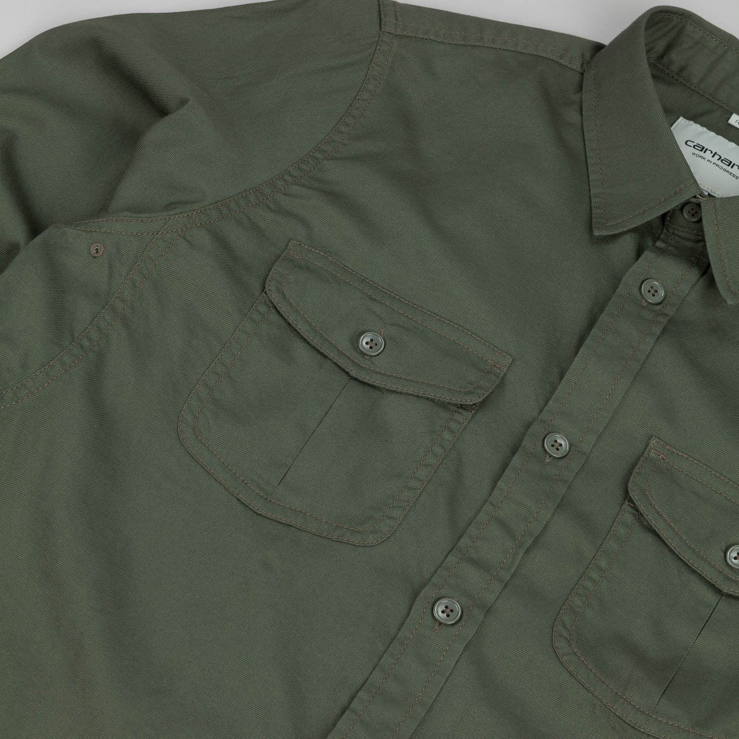 Carhartt Robbins L/S Shirt - Cotton Leaf Green