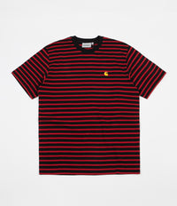 Carhartt Robie T-Shirt - Black / Blast Red / Quince