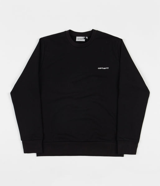 Carhartt Script Embroidery Crewneck Sweatshirt - Black / White