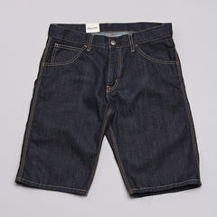 Carhartt Skill Shorts Blue Denim Rinsed