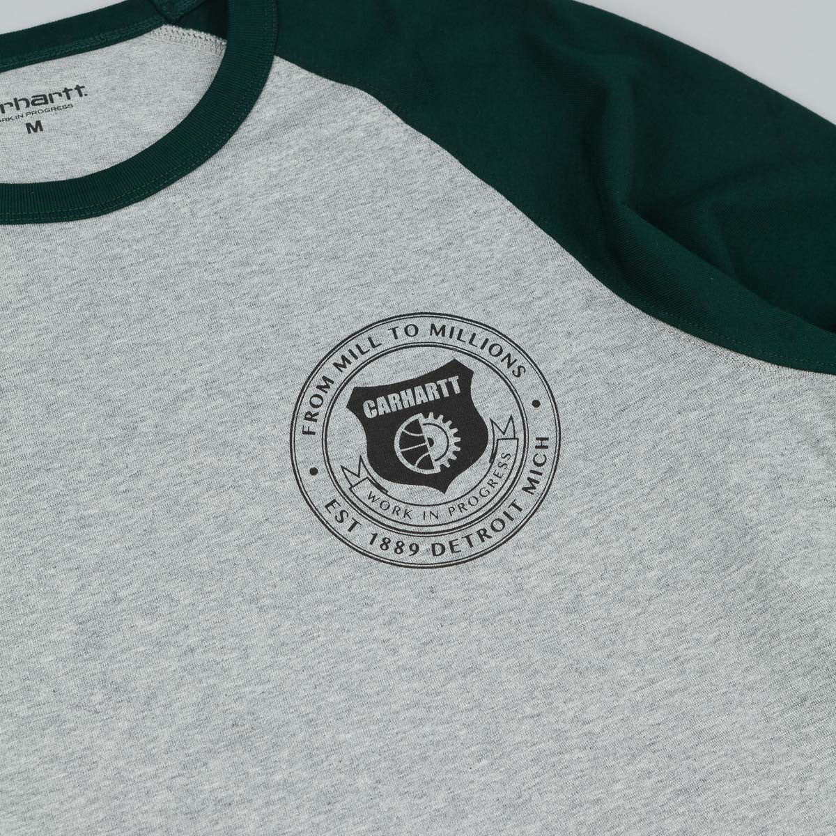 Carhartt Seal Long Sleeve T-Shirt - Grey Heather / Parsley