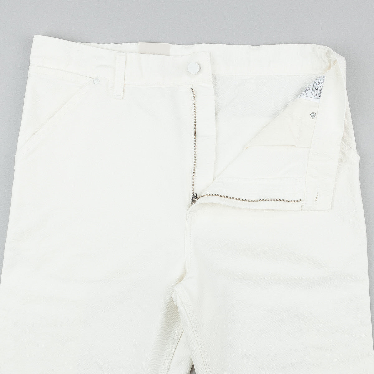 Carhartt Single Knee Trousers - Broken White Rinsed