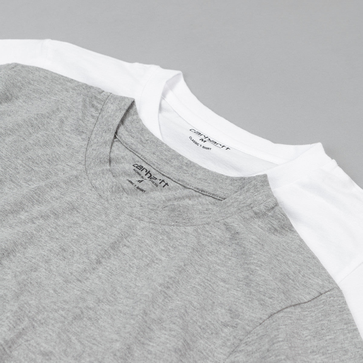 Carhartt Standard T-Shirt 2 Pack- White / Grey Heather