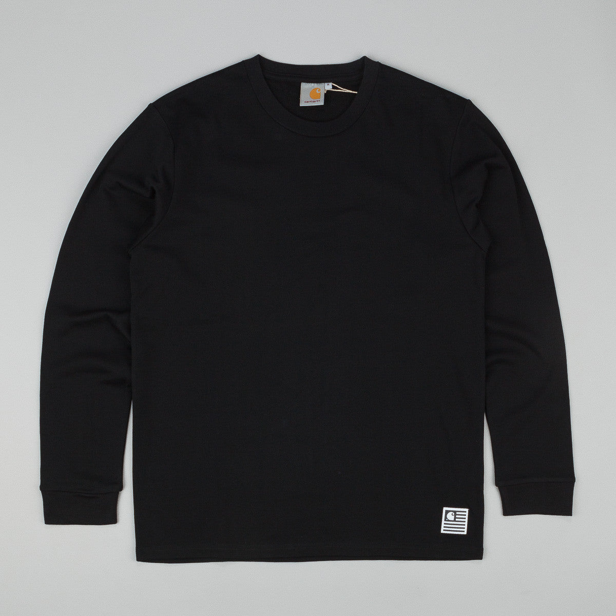 Carhartt State Campus L/S T-Shirt - Black / White