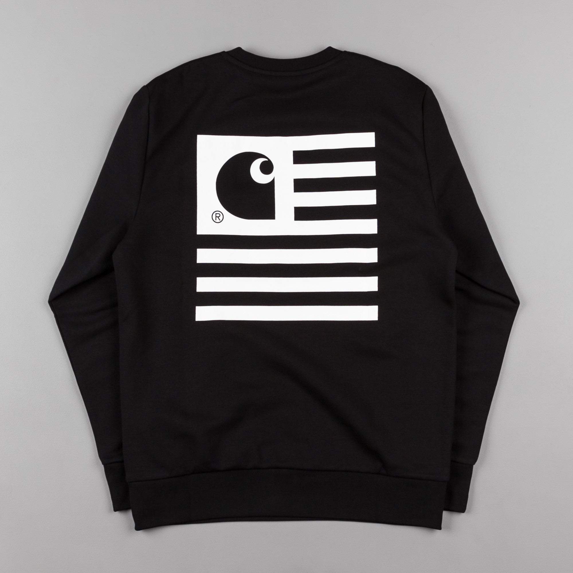Carhartt State Flag Crew Neck Sweatshirt - Black / White