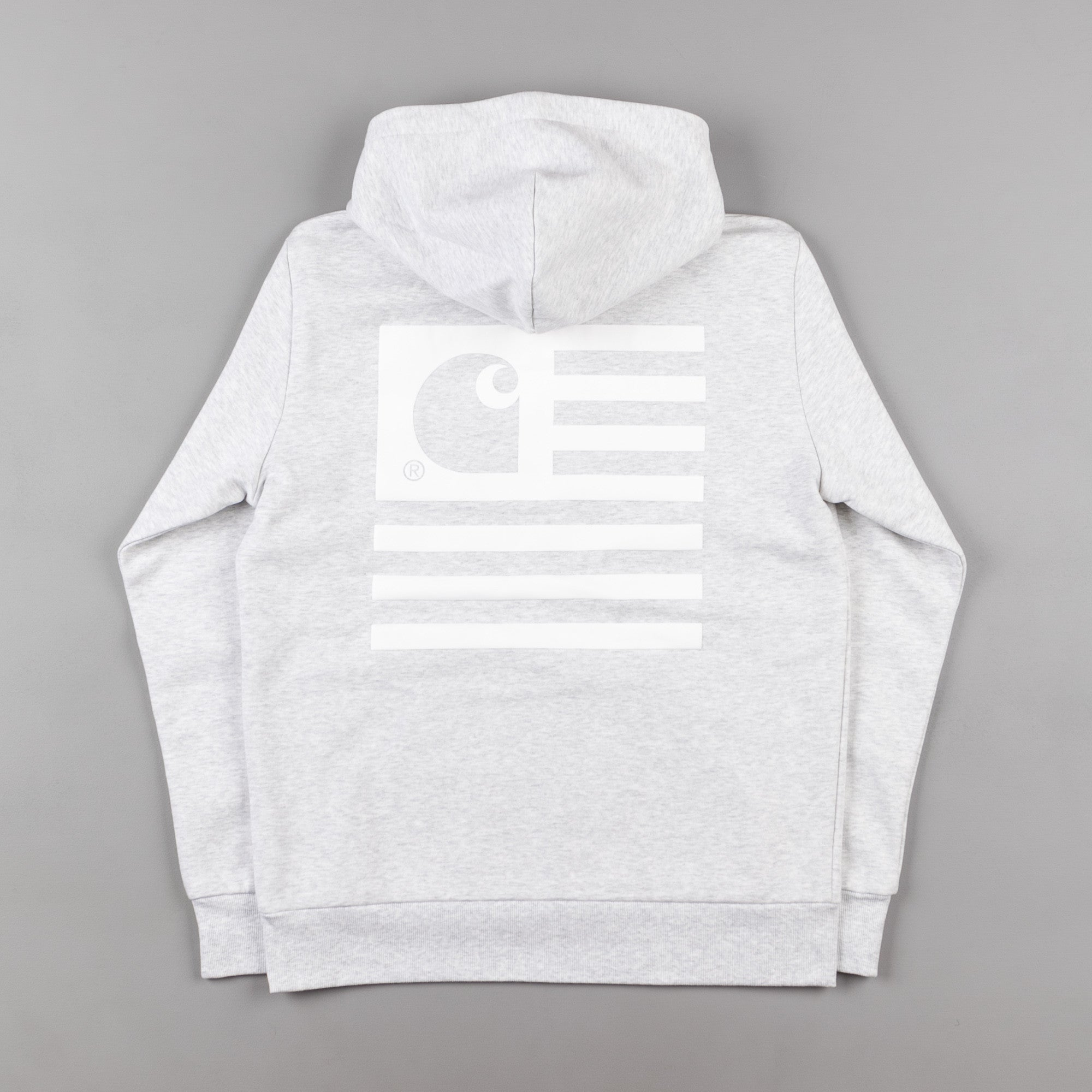 Carhartt State Flag Hooded Sweatshirt - Ash Heather / White