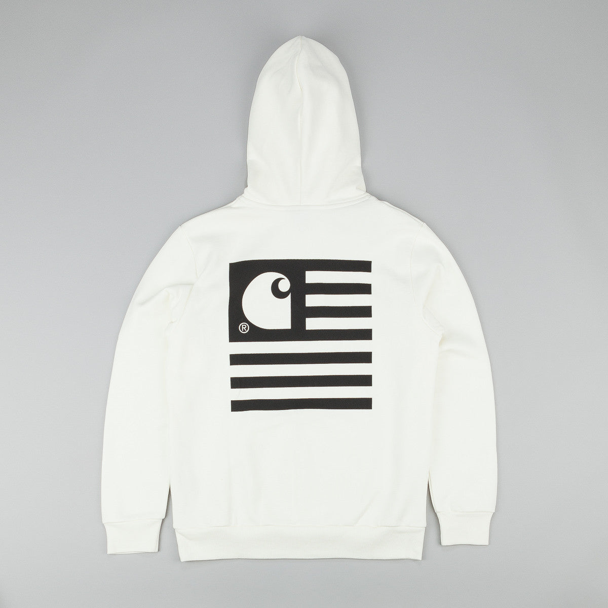 Carhartt State Flag Hooded Sweatshirt - Snow / Black