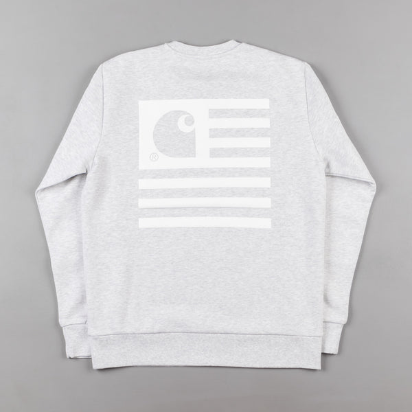 Carhartt State Flag Crewneck Sweatshirt - Ash Heather / White