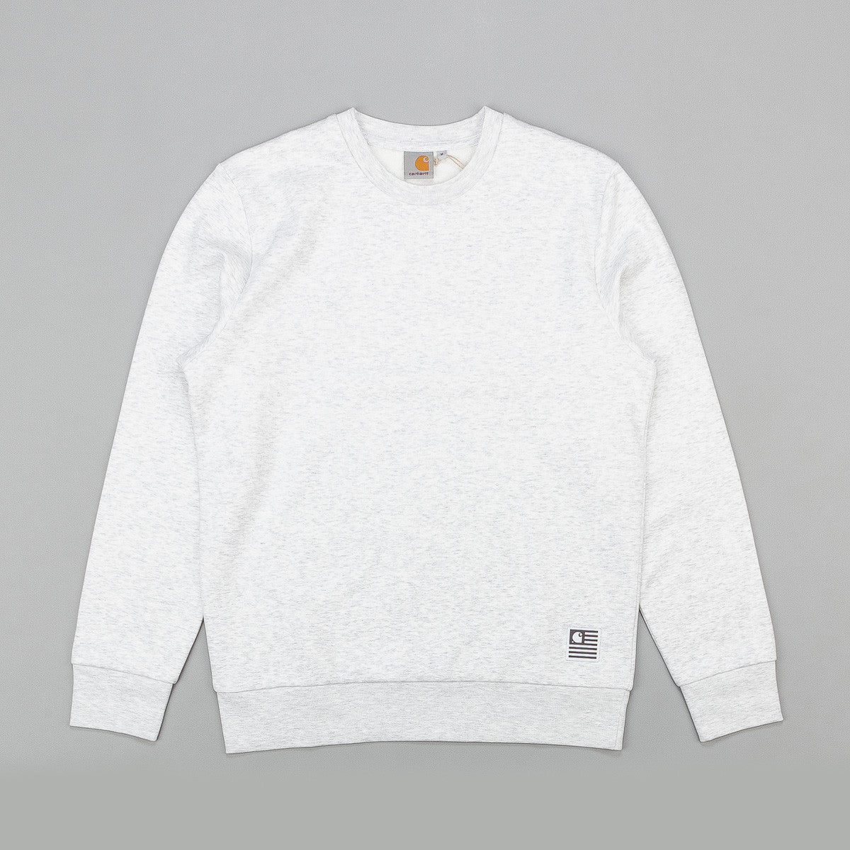 Carhartt State Flat Sweatshirt - Ash Heather / Black