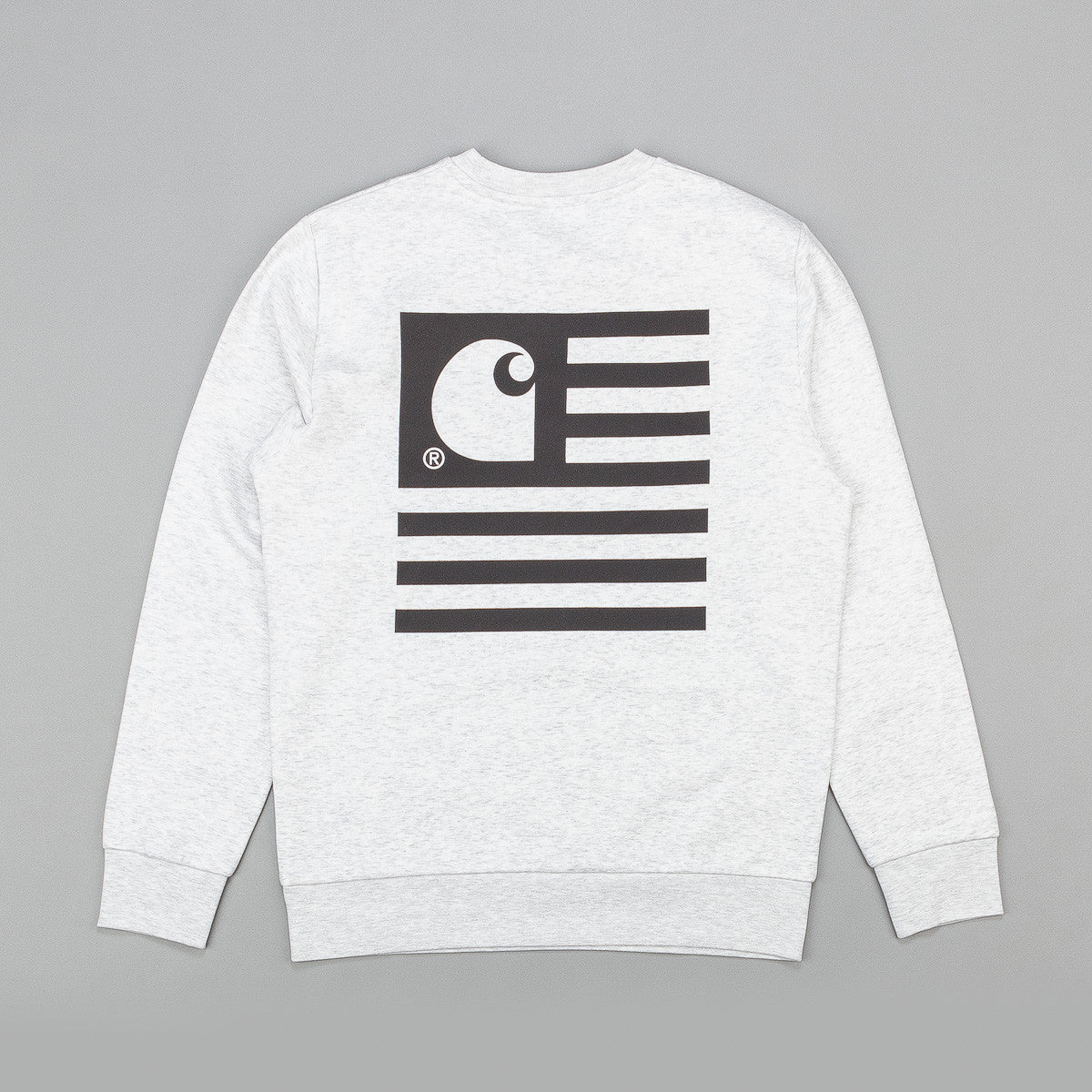 Carhartt State Flag Sweatshirt - Ash Heather / Black