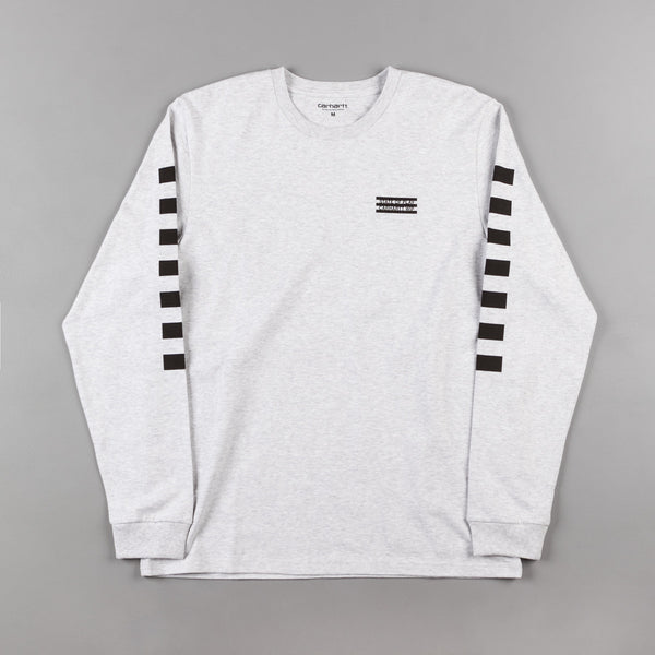 Carhartt State Long Sleeve T-Shirt - Ash Heather / Black