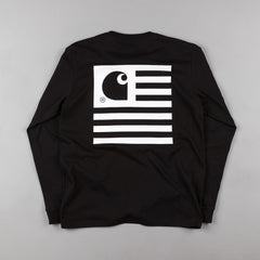 Carhartt State Long Sleeve T-Shirt - Black / White