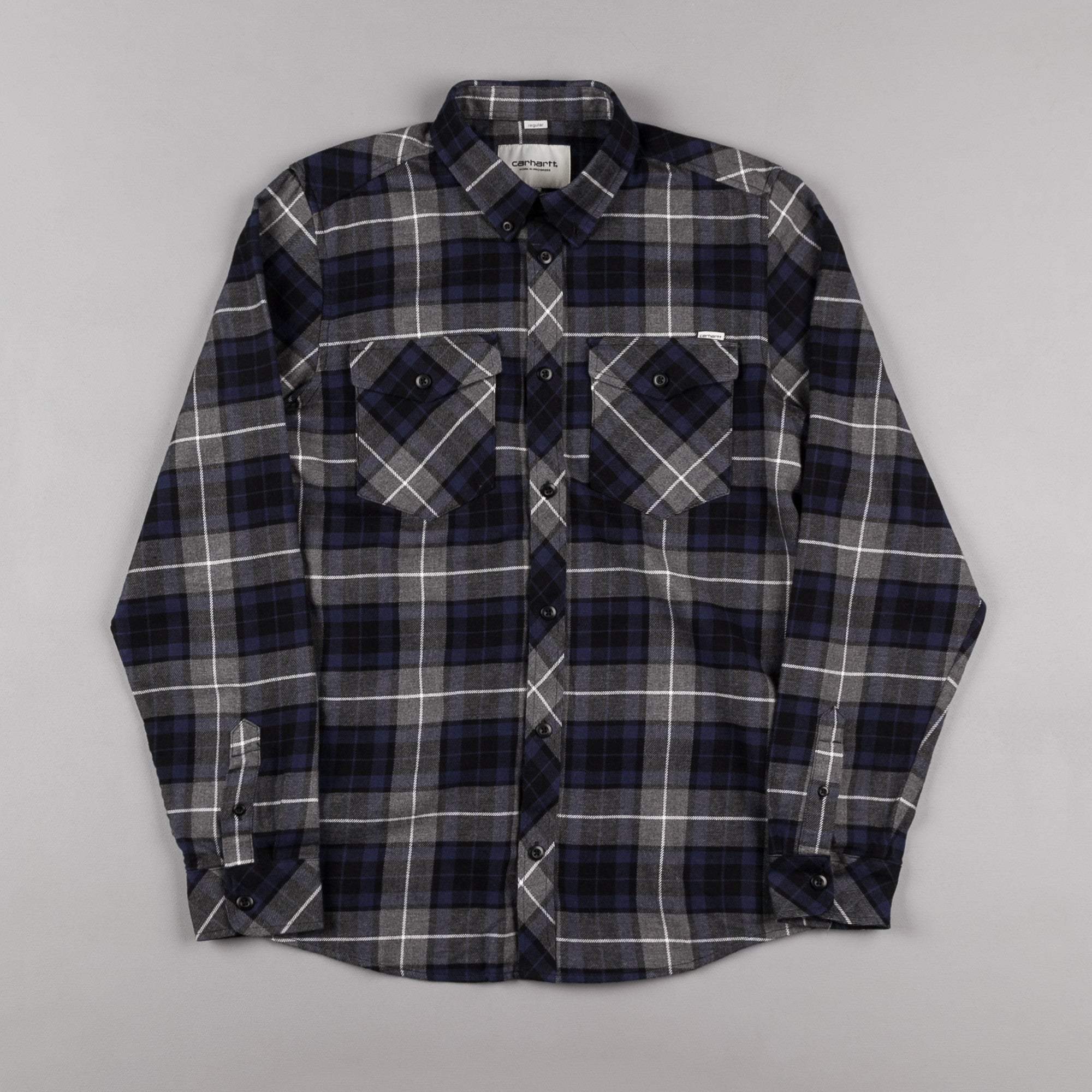Carhartt Tatum Long Sleeve Shirt - Blue
