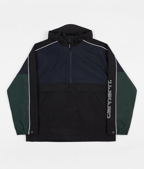 Carhartt Terrace Pullover Jacket - Dark Navy / Black / Bottle Green