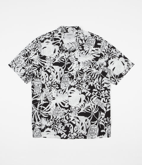 Carhartt Tiki Mono Short Sleeve Shirt - Black / Wax