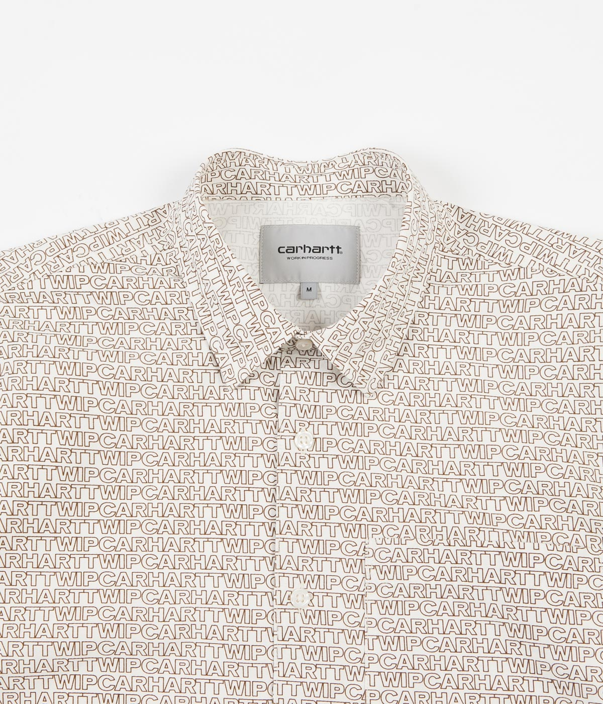 Carhartt Typo Short Sleeve Shirt - Wax / Hamilton Brown
