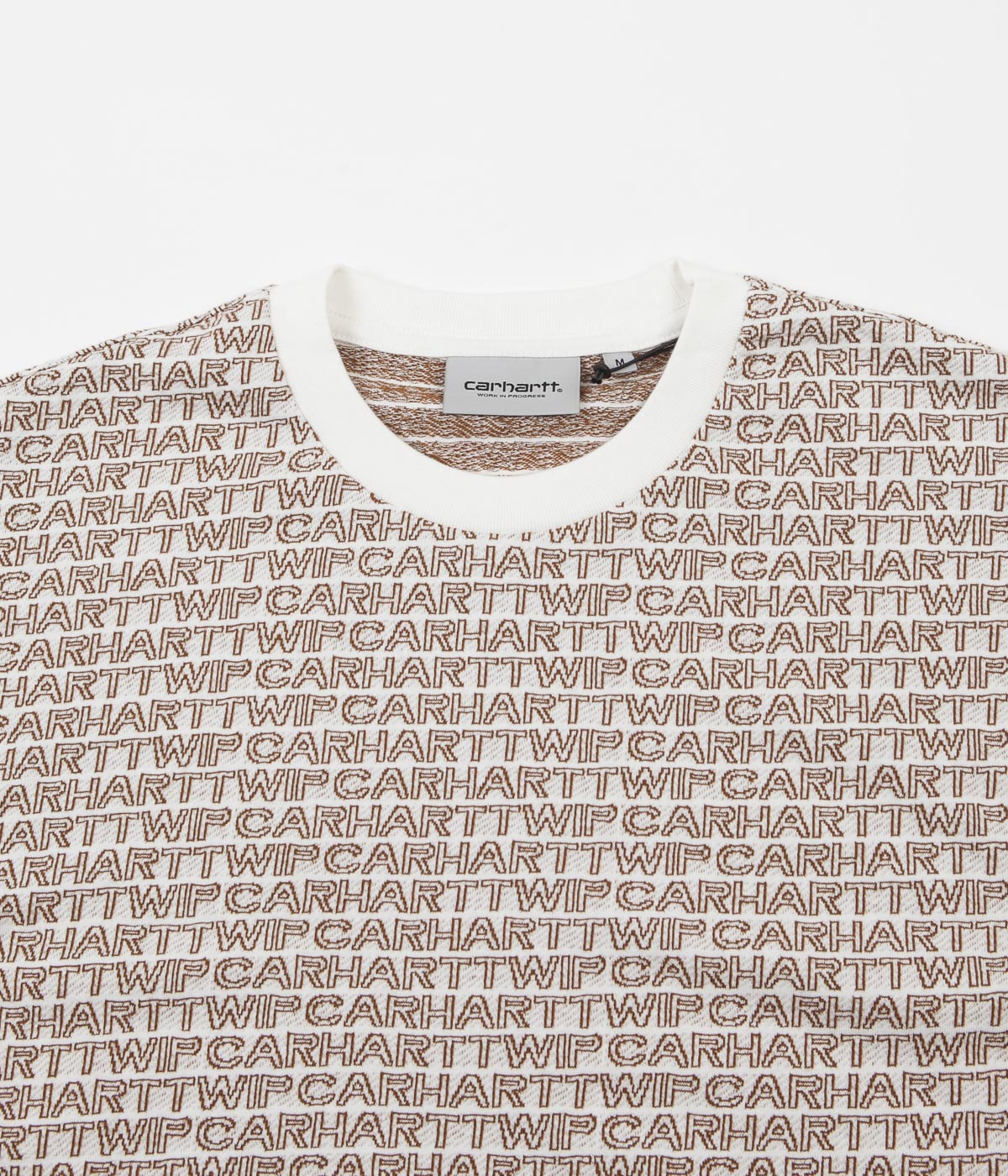 Carhartt Typo T-Shirt - Wax / Hamilton Brown