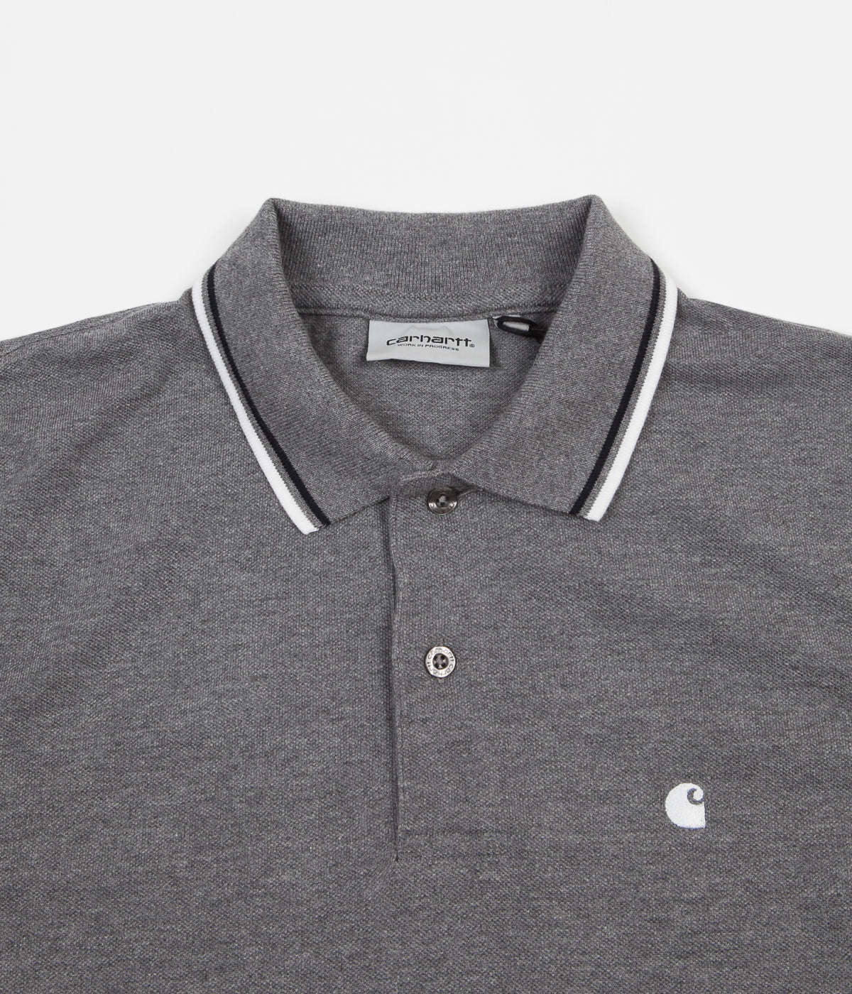 269e48fb Carhartt Venice Polo Shirt - Dark Grey Heather / Dark Navy | Flatspot
