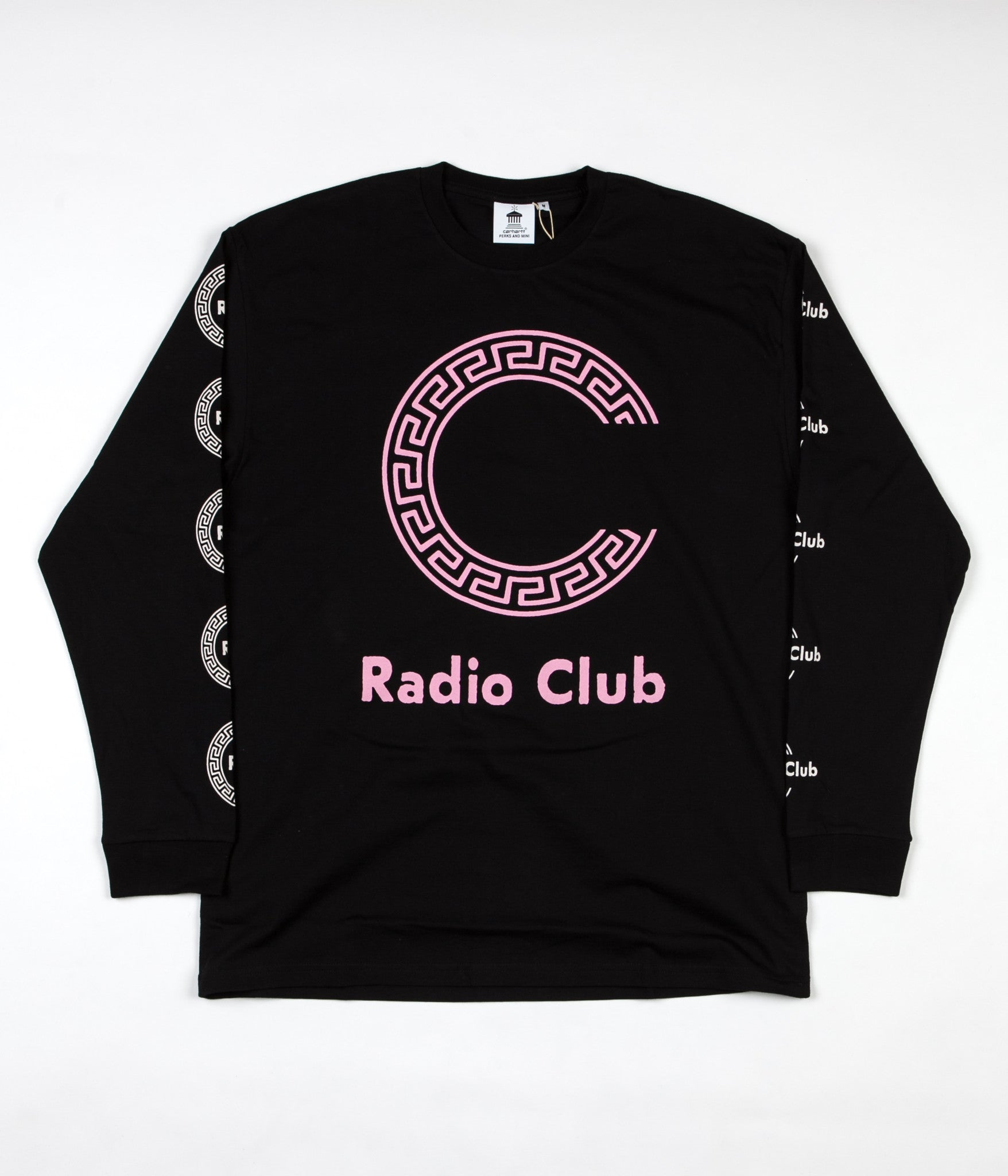 Carhartt x PAM Radio Club Roma Long Sleeve T-Shirt - Black