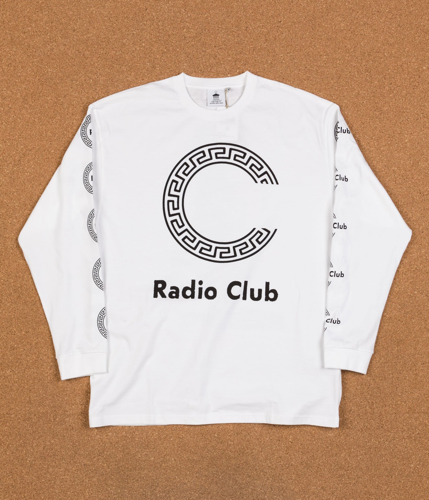 Carhartt x PAM Radio Club Roma Long Sleeve T-Shirt - White
