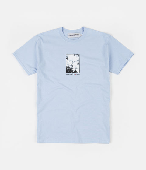 Champagne Towers Champagne Flowers T-Shirt - Light Blue