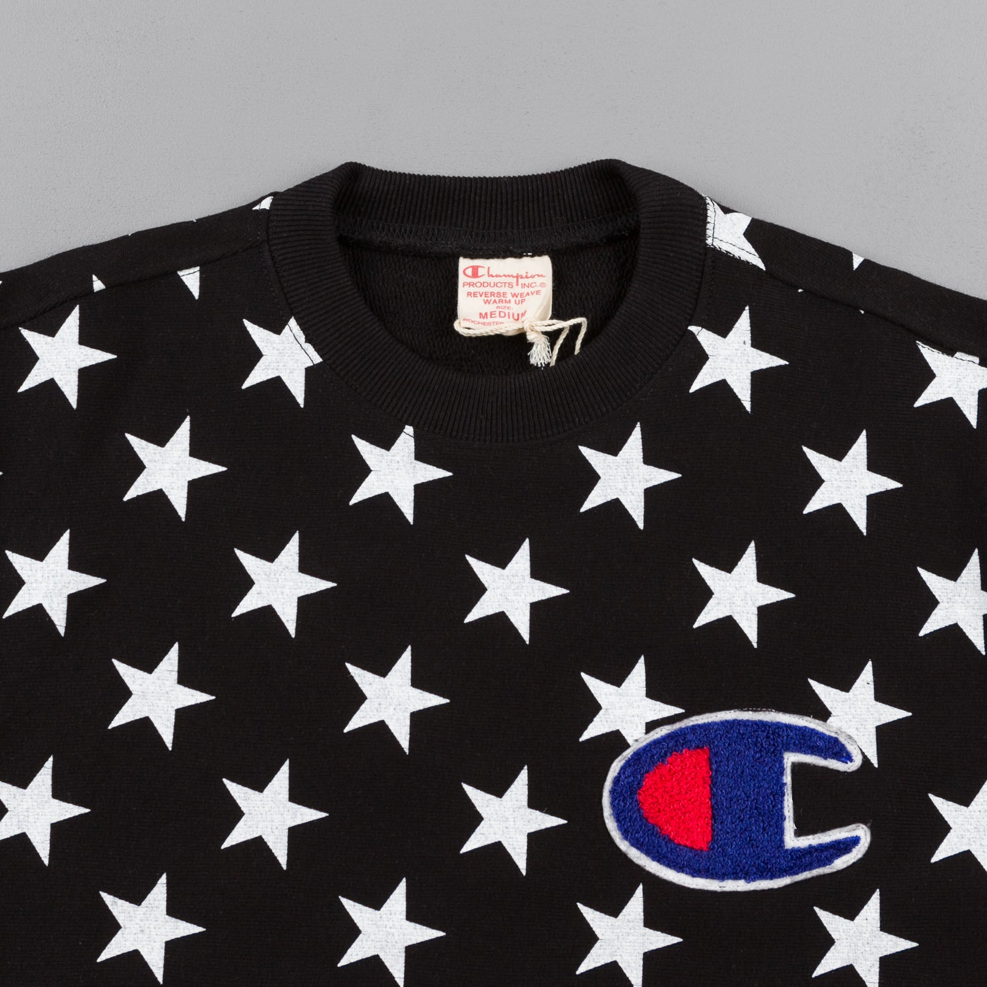 Champion All Over Print Crewneck Sweatshirt - Black