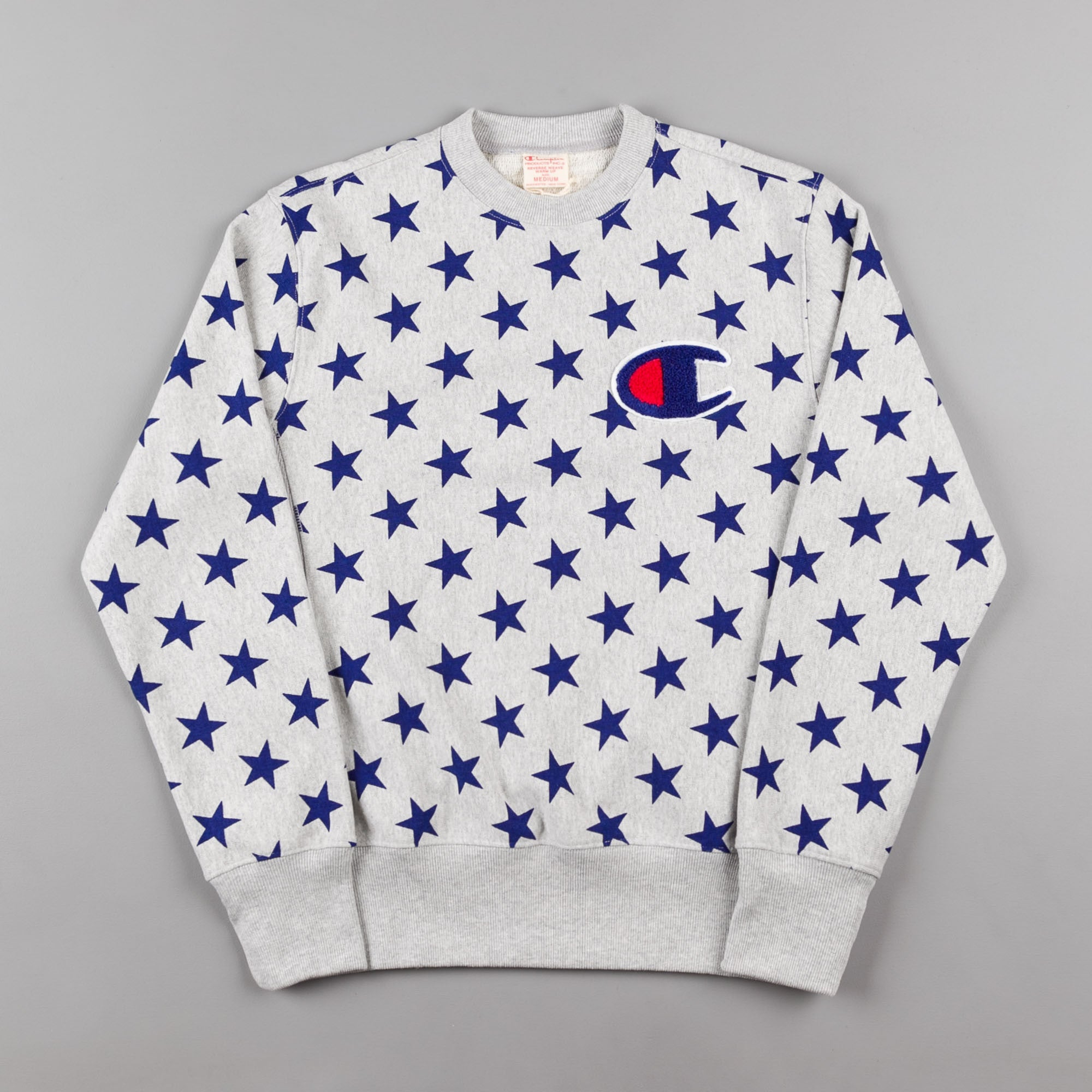 Champion All Over Print Crewneck Sweatshirt - Grey