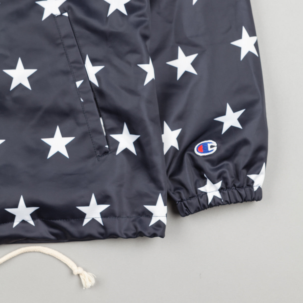 Champion Allover Print Coaches Jacket - Navy